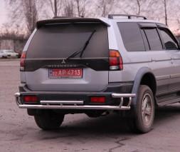 Задняя защита Mitsubishi Pajero Sport [1996+] AK004-2