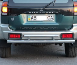 Защита заднего бампера для Mitsubishi Pajero Sport (2008-2015) MHPJ.08.B1-05 d60мм x 1.6