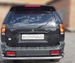 Защита заднего бампера для Mitsubishi Pajero Sport (1996-2008) MHPJ.96.B1-17 d60мм x 1.6