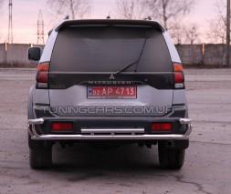 Защита заднего бампера для Mitsubishi Pajero Sport (1996-2008) MHPJ.96.B1-58 d60мм x 1.6