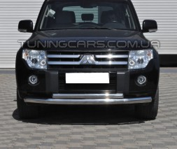 Защита переднего бампера для Mitsubishi Pajero Wagon 4 (2006+) MHWG.06.F3-10 d60мм x 1.6