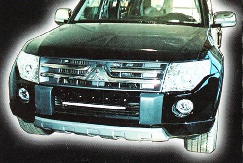 Накладка на передний бампер Mitsubishi Pajero Wagon