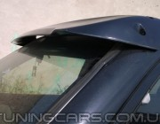"""Козырек лобового стекла Mitsubishi Pajero Wagon 3 """"Черный"""" (глянец), Митсубиши Паджеро Вагон"""