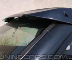 """Козырек лобового стекла Mitsubishi Pajero Wagon 4 """"Черный"""" (глянец), Митсубиши Паджеро Вагон"""