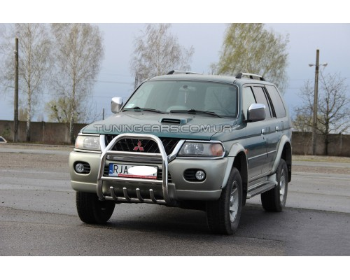Защита переднего бампера для Mitsubishi Pajero Sport (1996-2008) MHPJ.96.F2-02 d60мм x 1.6