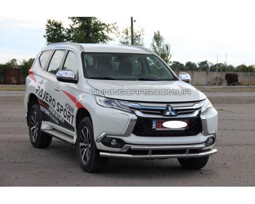 Защита переднего бампера для Mitsubishi Pajero Sport (1996-2008) MHPJ.96.F3-20 d60мм x 1.6