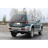 Защита заднего бампера для Mitsubishi Pajero Sport (1996-2008) MHPJ.96.B1-42 d60мм x 1.6