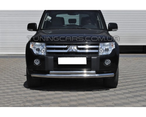 Защита переднего бампера для Mitsubishi Pajero Wagon 3 (2000-2006) MHWG.00.F3-10 d60мм x 1.6