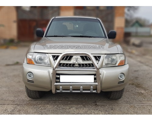 Защита переднего бампера для Mitsubishi Pajero Wagon 4 (2006+) MHWG.06.F2-02 d60мм x 1.6