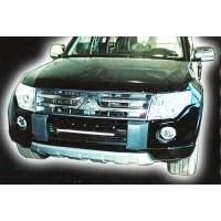 Накладка на передний бампер Mitsubishi Pajero Wagon 4