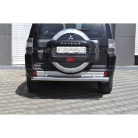 Защита заднего бампера для Mitsubishi Pajero Wagon 3 (2000-2006) MHWG.00.B1-02 d60мм x 1.6