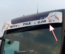 Накладка на козырек для MAN TGA (2000+) (Высока крыша / Низкая крыша)