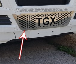 Накладка на решетку нерж. для MAN TGX (2012-2017) MNTX.12.030-B