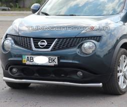 Защита переднего бампера для Nissan Juke (2010-2014) NSJK.10.F3-01 d60мм x 1.6