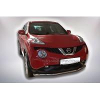 Защита переднего бампера для Nissan Juke (2010-2014) NSJK.10.F3-05 d60мм x 1.6