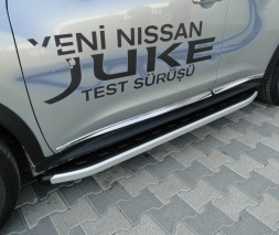 Пороги Nissan Juke [2010+] NS001 (Newstar grey)