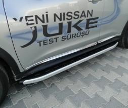 Пороги Nissan Juke [2010+] NS001 (Newstar grey)