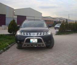 Кенгурятник Nissan Murano WT004 (с надписью)