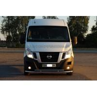 Защита переднего бампера для Nissan NV-400 (2010+) NSNV.10.F3-20 d60мм x 1.6