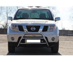 Защита переднего бампера для Nissan Navara (05-14) NSNV.05.F1-16 d60мм x 1.6