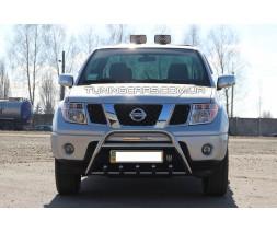 Защита переднего бампера для Nissan Navara (05-14) NSNV.05.F1-20 d60мм x 1.6