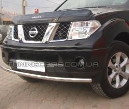 Защита переднего бампера для Nissan Navara (05-14) NSNV.05.F3-05 d60мм x 1.6