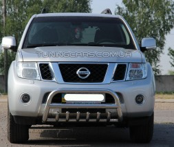 Защита переднего бампера для Nissan Pathfinder (2006-2013) NSPF.06.F1-13 d60мм x 1.6