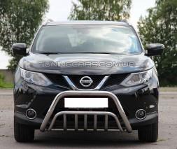Защита переднего бампера для Nissan Qashqai J11 (2014+) NSQH.14.F1-02 d60мм x 1.6