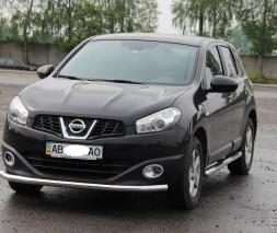 Кенгурятник Nissan Qashqai ST008 (Tetri)