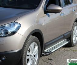 Пороги Nissan Qashqai [2006+] AB004 (Artemis Silver)