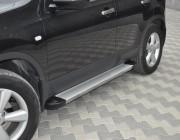 Пороги Nissan Qashqai EB001 (Elegance Silver)