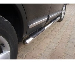 Пороги трубы с накладками для Nissan Qashqai J11 (2014+) NSQH.14.S1-02 d60мм x 1.6