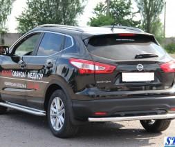 Задняя защита Nissan Qashqai [2013+] AK002