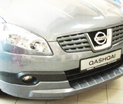 Накладка на передний бампер Nissan Qashqai