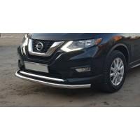 Защита переднего бампера для Nissan Rogue (2017+) NSXT.17.F3-05 d60мм x 1.6