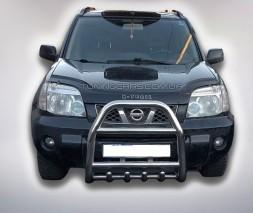 Защита переднего бампера для Nissan X-Trail T30 (2001-2007) NSXT.01.F2-02 d60мм x 1.6