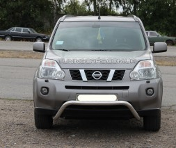 Защита переднего бампера для Nissan X-Trail T31 (2007-2014) NSXT.07.F1-12 d60мм x 1.6