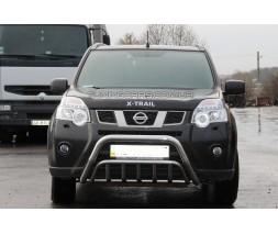 Защита переднего бампера для Nissan X-Trail T31 (2007-2014) NSXT.07.F1-02 d60мм x 1.6