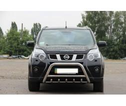 Защита переднего бампера для Nissan X-Trail T30 (2001-2007) NSXT.01.F1-03 d60мм x 1.6