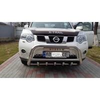 Защита переднего бампера для Nissan X-Trail T31 (2007-2014) NSXT.07.F1-62 d60мм x 1.6