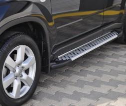 Пороги Nissan X-Trail AB004 (Artemis Silver)