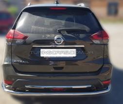Защита заднего бампера для Nissan X-Trail T32 (2014-2017) NSXT.13.B1-15 d60мм x 1.6