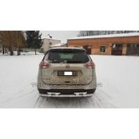 Защита заднего бампера для Nissan X-Trail (2014-2017) NSXT.13.B1-08 d60мм x 1.6