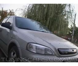 Заглушка на решетку радиатора (зима) Opel Astra G, Опель Астра Джи