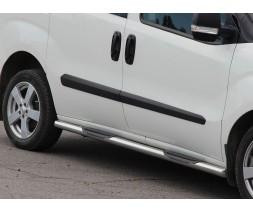 Пороги трубы с накладками для Opel Combo D (2011+) FTDB.10.S1-02L длинная база d60мм x 1.6