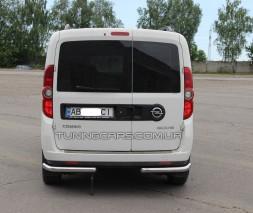 Защита заднего бампера (углы) для Opel Combo D (2011+) FTDB.10.B1-09 d60мм x 1.6