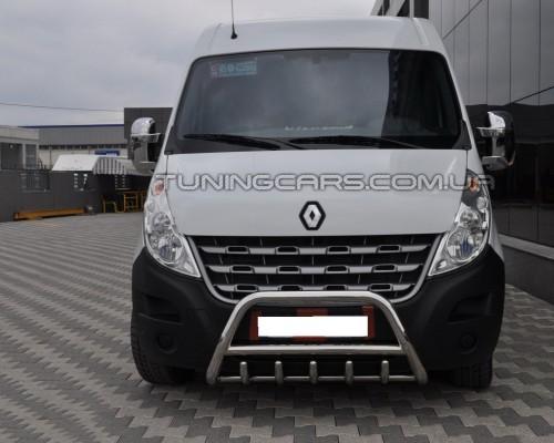 Передняя защита кенгурятник Opel Movano (98-10) OPMV.98.F1-03