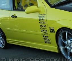 Накладки на пороги для Opel (Модель №6), Опель
