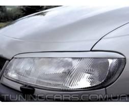 Накладки на фары (реснички) Opel Omega B, Опель Омега Б
