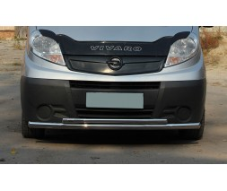 Защита переднего бампера для Opel Vivaro (2001-2014) NSPM.01.F3-10 d60мм x 1.6